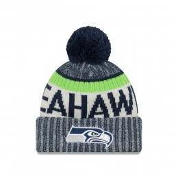 New Era Seattle Seahawks Bobble Knit Beanie OTC