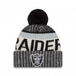 New Era Oakland Raiders Bobble Knit Beanie OTC