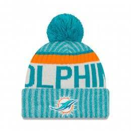 New Era Miami Dolphins Bobble Knit Beanie OTC