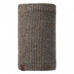 Buff Lyne Knitted Neckwarmer Brown Taupe