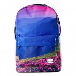 Spiral Mountain Blossom Backpack Blue/Pink