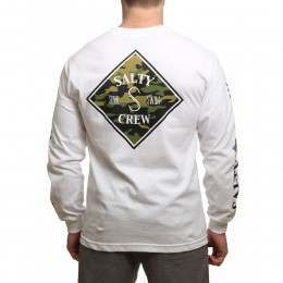 Salty Crew Tippet Camo Long Sleeve Top White