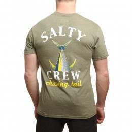 Salty Crew Chasing Tail Heather Tee Peppered Sage