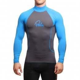 Palm Long Sleeve Rash Vest Jet Grey/Blue