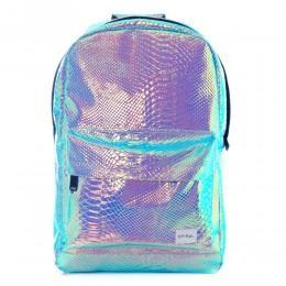 Spiral Textured Holographic Backpack Sapphire