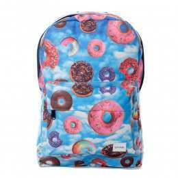 Spiral Donut Sky Backpack Blue