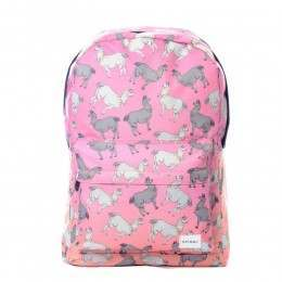 Spiral Llama Land Backpack Pink