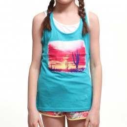 PROTEST GIRLS COD FAKY TANK TOP Mystic Blue
