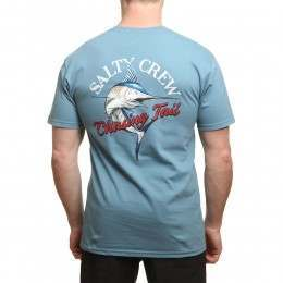 Salty Crew Striped Marlin Tee Slate