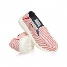 Hey Dude Ava Slip-Ons Stripes Red