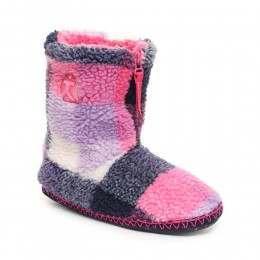 Bedroom Athletics MacGraw Slipper Boots Navy/Pink
