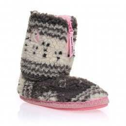 Bedroom Athletics Jessica Slipper Boots Grey/Pink