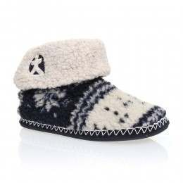 Bedroom Athletics Wahlberg Slipper Boots Navy