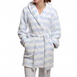 Bedroom Athletics Emily Dressing Gown Blue/White