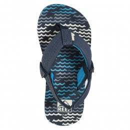 Reef Boys Ahi Sandals Blue Horizon Waves