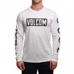 Volcom Knock Long Sleeve Top White