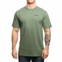 Patagonia Fitz Roy Trout Tee Buffalo Green