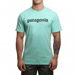 Patagonia '73 Text Logo Responsibili-Tee Gal Green