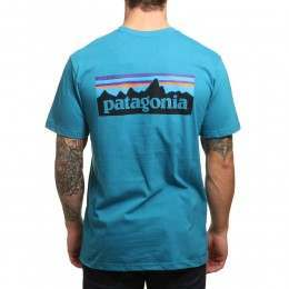 Patagonia P6 Logo Tee Filter Blue