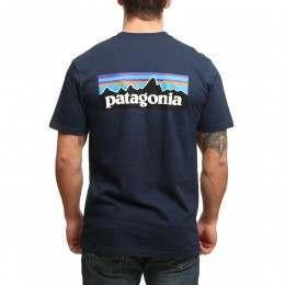 Patagonia P6 Logo Tee Navy Blue