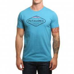 Patagonia Fitz Roy Crest Tee Filter Blue