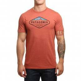 Patagonia Fitz Roy Crest Tee Roots Red