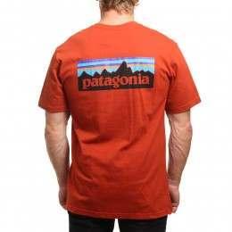 Patagonia P6 Logo Pocket Tee Roots Red