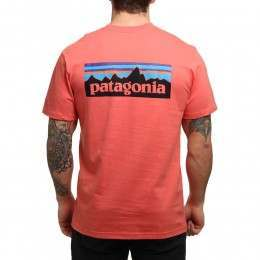Patagonia P6 Logo Pocket Tee Spiced Coral