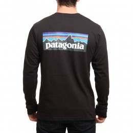 Patagonia P6 Logo Long Sleeve Top Black