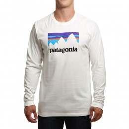 Patagonia Shop Sticker Long Sleeve Top White