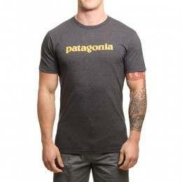 Patagonia Text Logo Tee Black