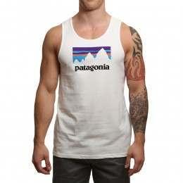 Patagonia Shop Sticker Tank White