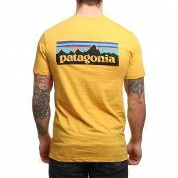 Patagonia P6 Logo Slim Fit Tee Yurt Yellow