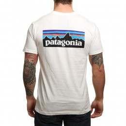 Patagonia P6 Logo Slim Fit Tee White
