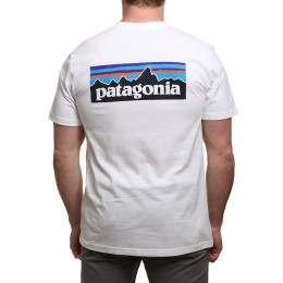 Patagonia P6 Logo Tee White
