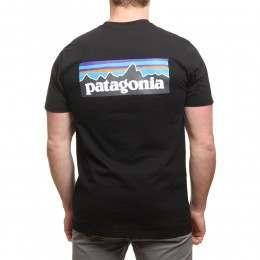 Patagonia P6 Logo Tee Black