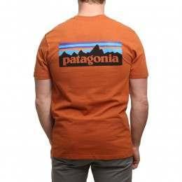 Patagonia P6 Logo Tee Copper Ore