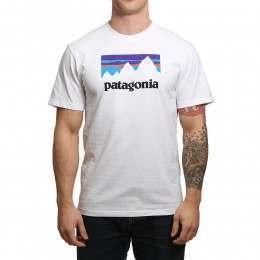 Patagonia Shop Sticker Tee White