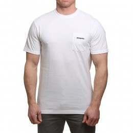 Patagonia P6 Logo Pocket Tee White