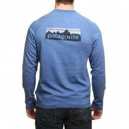 Patagonia P6 Logo Lightweight Crew Superior Blue