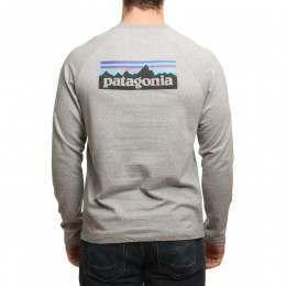 Patagonia P6 Logo Lightweight Crew Grey/Black