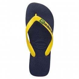 Havaianas Brasil Logo Sandals Navy/Yellow