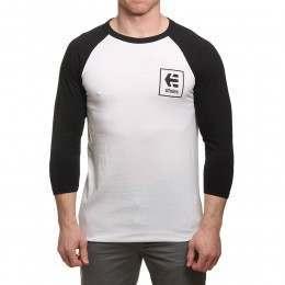 Etnies Stack Box Long Sleeve Top Black/White