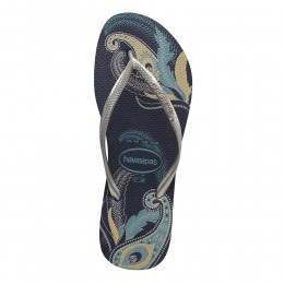 Havaianas Slim Organic Sandals Navy/Silver