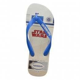 Havaianas Kids Star Wars Sandals White/Blue Star