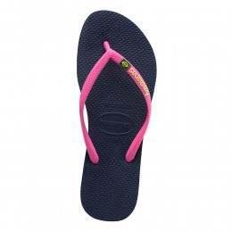 Havaianas Slim Brasil Logo Sandals Navy Blue