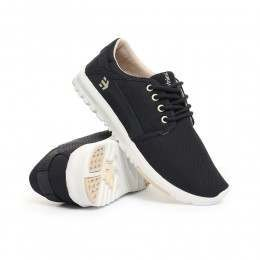 ETNIES LADIES SCOUT SHOES Navy/Tan/White