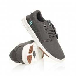 Etnies Ladies Scout Shoes Grey/White/Gum