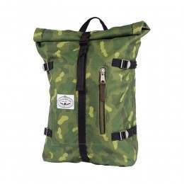 Poler Classic Rolltop Backpack Green Furry Camo