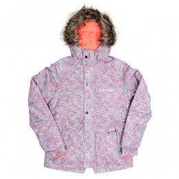 ONEILL GIRLS CRYSTAL SNOW JACKET Grey AOP/White